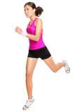Running fitness woman isolated - 34279473