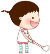 Portrait of girl holding golf stick