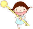Portrait of girl holding lollipop