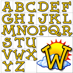 ABC Alphabet background wearther dummies orange design