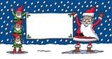 Santa & Elves poster