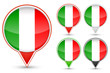 set of Italy buttons isolated on white background