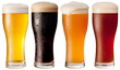 Four glasses with different beers - 34284677