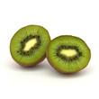Eine in zwei Hälften aufgeschnittene Kiwi