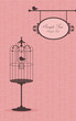 vintage design with a bird in the cage
