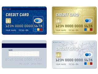 Credit card set  template