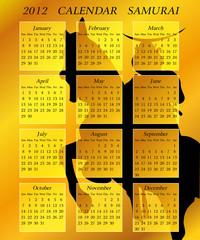 2012 calendar samurai