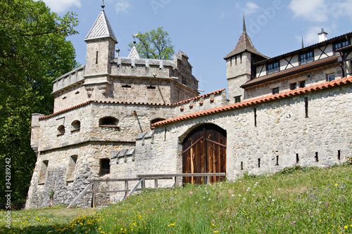old castle in Lichtenstein in germany, europe