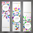 Geometric Circles Banner Set. 160x600.