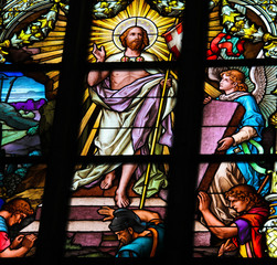Resurrection of Jesus Christ - stained glass