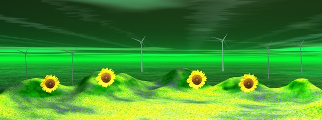 landscape and wind turbine