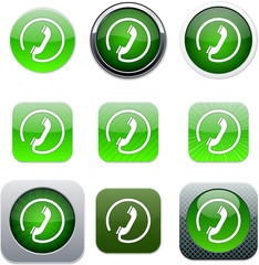Call green app icons.