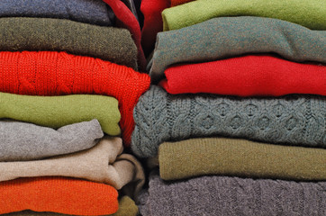 Colourful winter knitwear
