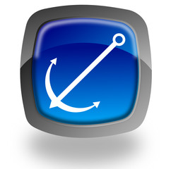Anchor glossy icon