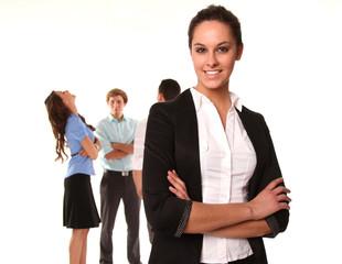 Gruppe von Angestellten