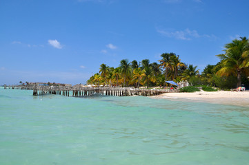 perfect tropical beach in Isla Mujeres