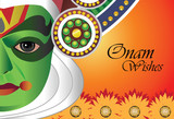 Onam wishes - Card for Indian festival of Onam