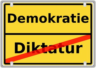Demokratie vs. Diktatur
