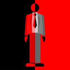 Maniquí rojo y negro