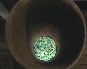 PET bottles sorted. Plastics recycling. Industrial factory.