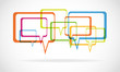 colorful dialog bubbles vector