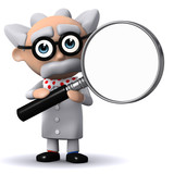 3d Mad Scientist offers you his magnifying glass