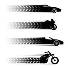 car and motorbike symbols.