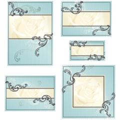 Set of Rococo wedding designs