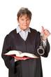 Juristin mit Gesetzbuch