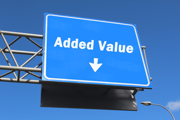 Added Value - Highway Sign