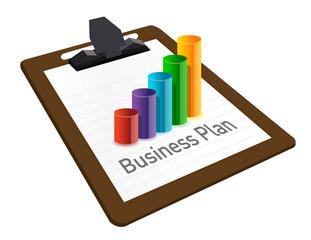 business plan on a clipboard. illustration design