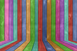 Vibrant Colored Wood Fence Background