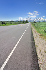 The Road at Grand Teton