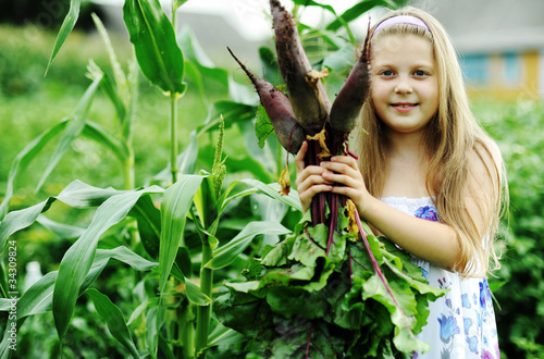 Girl with beetroots