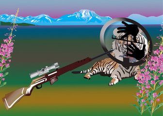 tiger in sight illustration