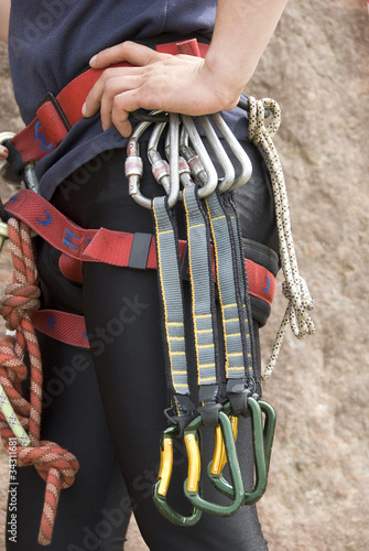 Equipment of the rock-climber