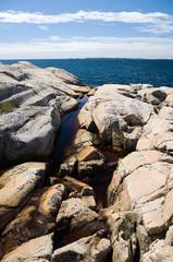Cliffs at the coastline in Sweden