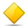 Señal amarilla trafico