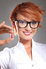 Nice doctor with pills