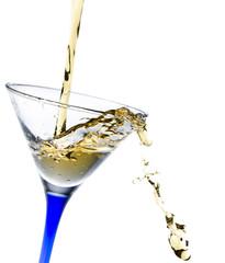isolated glass with lemonade