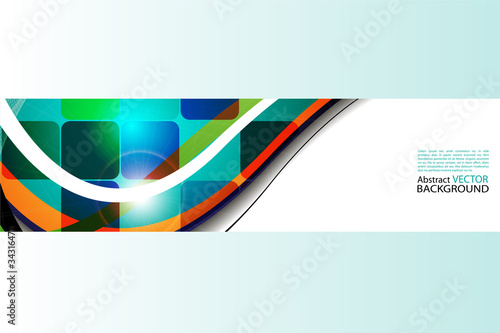 abstract background with colored squares