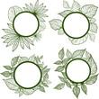 Vector set of autumn leafs frames