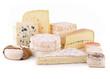 Leinwandbild Motiv fromage détouré sur fond blanc