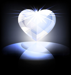 ice heart-crystal