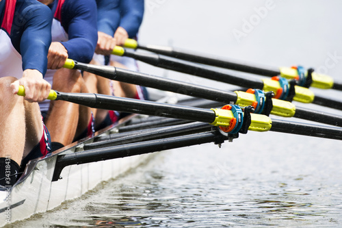 Close up of men\'s rowing team