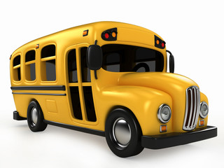3D Render of School Bus