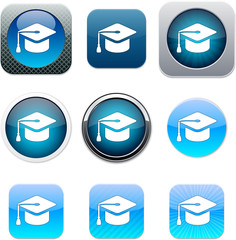 Graduation blue app icons.