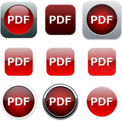 PDF red app icons.