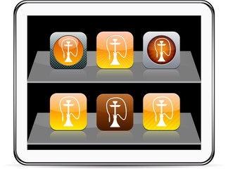 Hookah orange app icons.