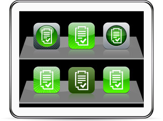 Form green app icons.